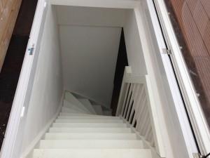 De dakterrasbouwers toegang tot uw dak