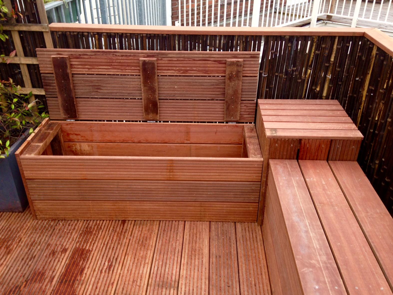Dakterras meubels - Bank terras hout ...